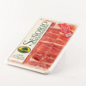 Jamón de bellota 100% Ibérico D.O. Dehesa de Extremadura Loncheado