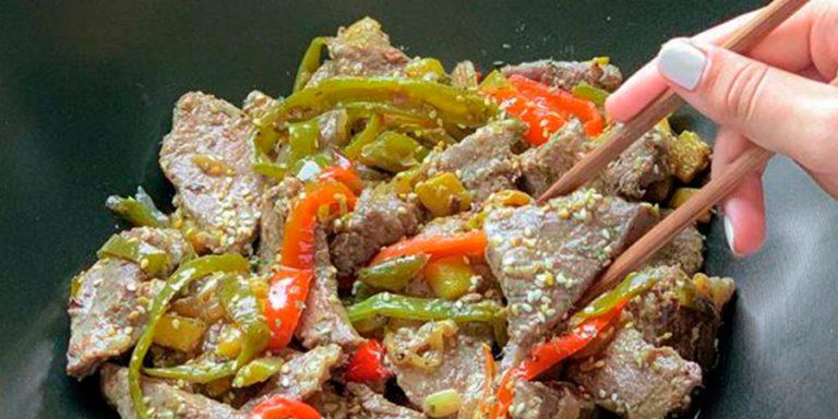 receta de salteado de presa iberica al wok senorio de montanera